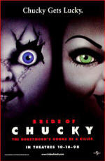 Bride of Chucky's catchy tagline: Chucky Gets Lucky