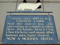 The Golden Lamb Inn sign