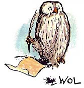 Original illustration of Winnie the Pooh's Owl